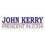 John Kerry: President in 2004 (sticker)
