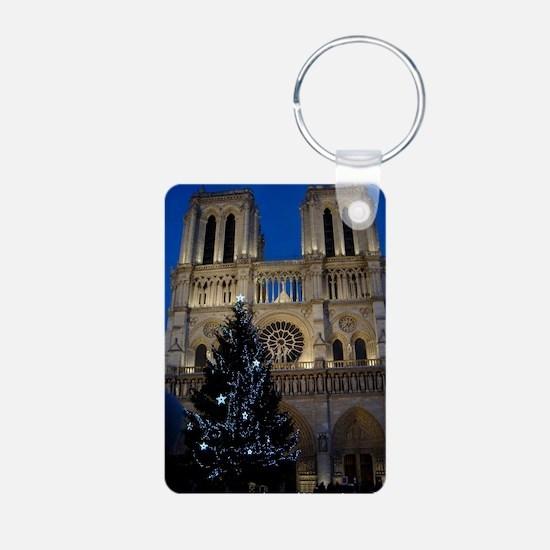 Notre Dame de Paris a NOEL Aluminum Photo Keychain
