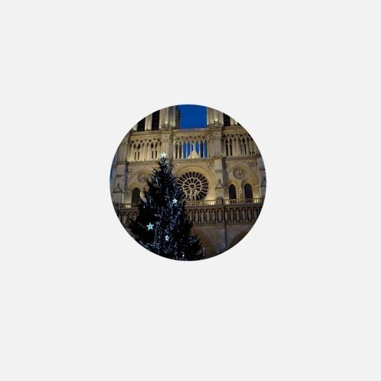 Notre Dame de Paris a NOEL Mini Button