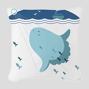 Mola Mola Woven Throw Pillow