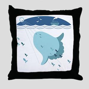 Mola Mola Throw Pillow