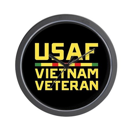 USAF VIETNAM VETERAN WALL CLOCK
