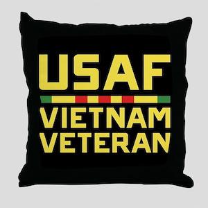 USAF Vietnam Veteran Throw Pillow