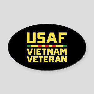 USAF Vietnam Veteran Oval Car Magnet