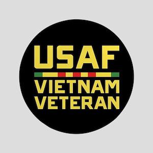 """USAF Vietnam Veteran 3.5"""" Button"""