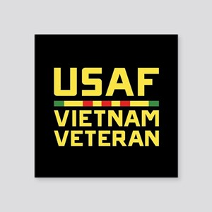 "USAF Vietnam Veteran Square Sticker 3"" x 3"""