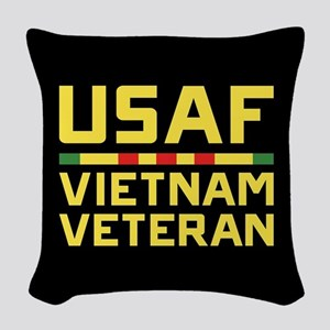 USAF Vietnam Veteran Woven Throw Pillow