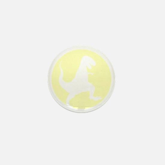 Yellow TRex Rampage Mini Button