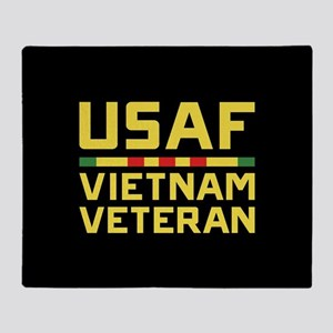 USAF Vietnam Veteran Throw Blanket