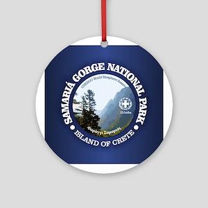 Samaria Gorge NP Round Ornament