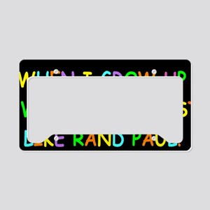 rand paul when i grow up dark License Plate Holder