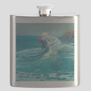 Vintage Mermaid and Mortal Flask