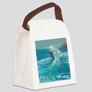 Vintage Mermaid and Mortal Canvas Lunch Bag