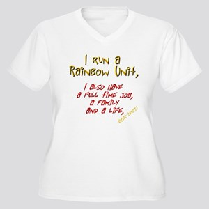 Rainbow Guide Women's Plus Size V-Neck T-Shirt