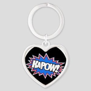 Hero KaPow Bursts Heart Keychain