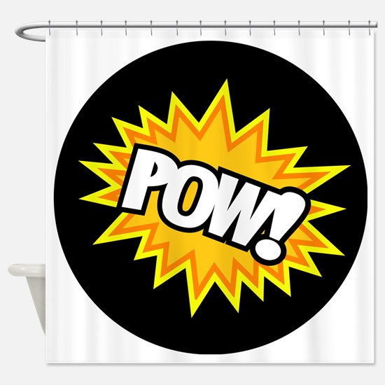 Hero Pow Bursts Shower Curtain