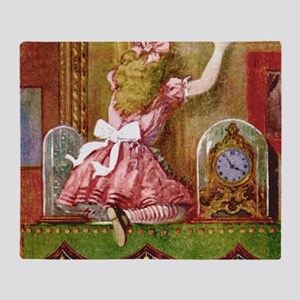alice through looking glassFINAL_SQ Throw Blanket