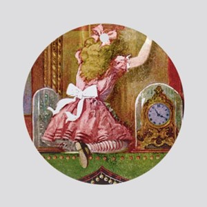alice through looking glassFINAL_SQ Round Ornament