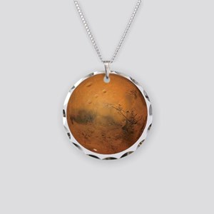 Planet Mars Necklace Circle Charm
