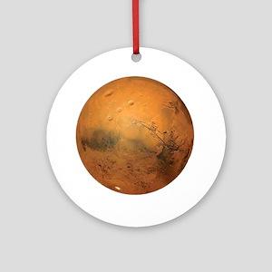 Planet Mars Round Ornament