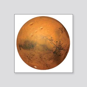 "Planet Mars Square Sticker 3"" x 3"""