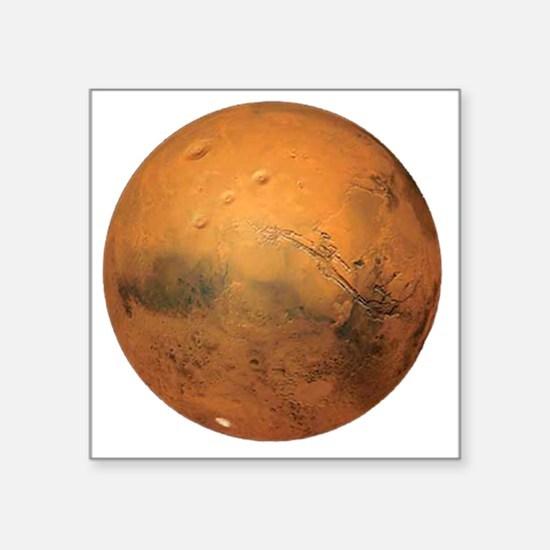 "Planet Mars Square Sticker 3"" x 3"""