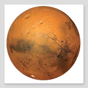 "Planet Mars Square Car Magnet 3"" x 3"""
