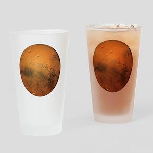 Planet Mars Drinking Glass