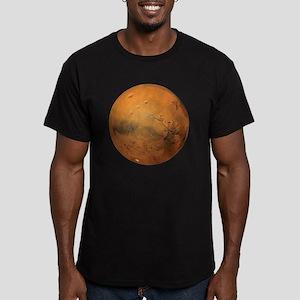 Planet Mars Men's Fitted T-Shirt (dark)