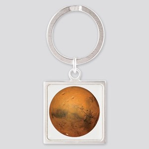 Planet Mars Square Keychain