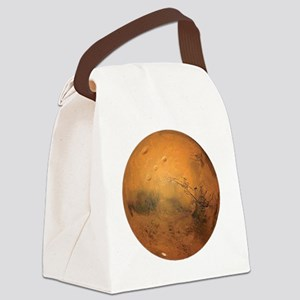 Planet Mars Canvas Lunch Bag