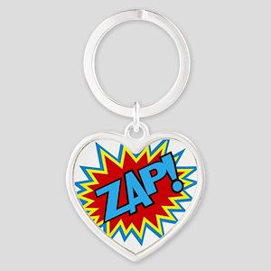 Hero Zap Bursts Heart Keychain