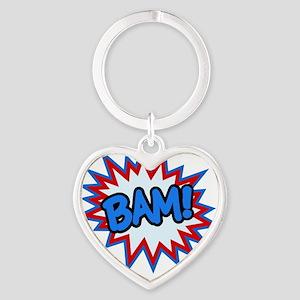 Hero Bam Bursts Heart Keychain