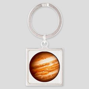 Planet Jupiter Square Keychain
