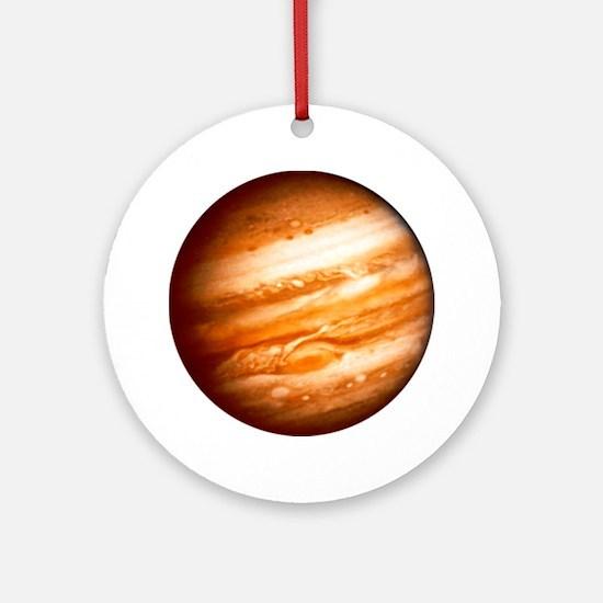 Planet Jupiter Round Ornament