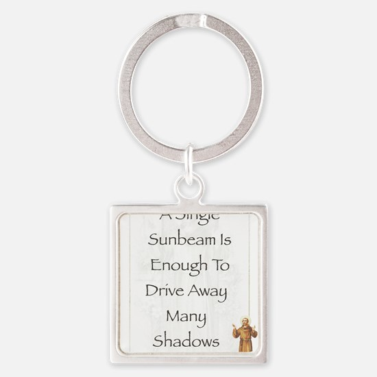 Saint Pope Francis Simple Prayer Square Keychain