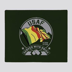 USAF Served With Pride Throw Blanket