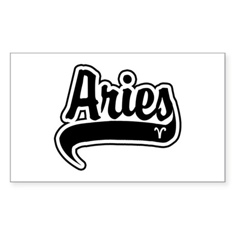 """Aries"" [Baseball/Black] Rectangle Sticker"