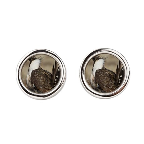 Sage Grouse Strut Cufflinks