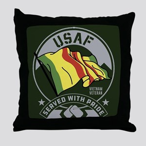 USAF Served With Pride Throw Pillow
