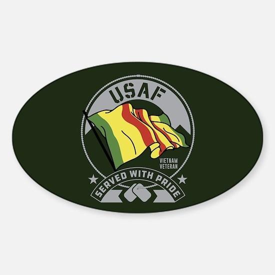 USAF Served With Pride Sticker (Oval)