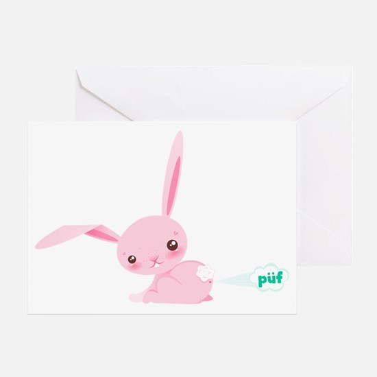 Cute Bunny Poots Greeting Card