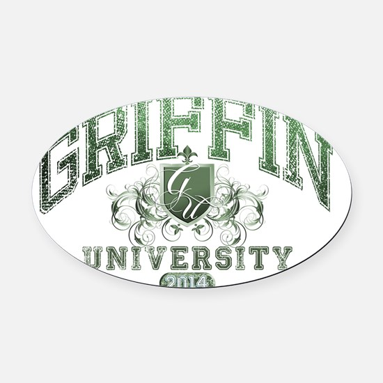 Griffin last Name University Class Oval Car Magnet