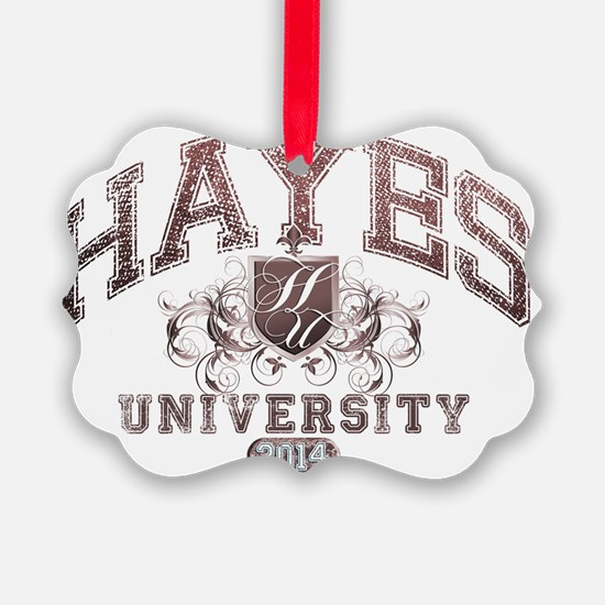 Hayes Last name University Class  Ornament