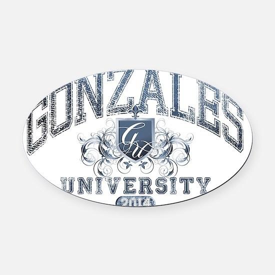 Gonzales Last name University Clas Oval Car Magnet