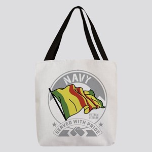 Navy Served with Pride Polyester Tote Bag