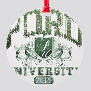 Ford Last name University Class of  Round Ornament
