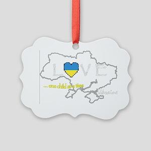 Love Ukraine...(D) Picture Ornament