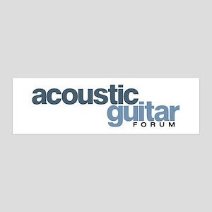 Acoustic Guitar Forum Logo 36x11 Wall Decal