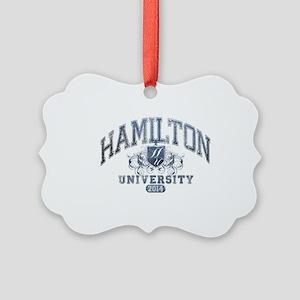 Hamilton Last Name University Cla Picture Ornament